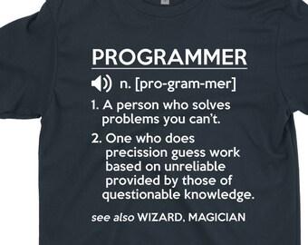 70ec552f4d2 Programmer T-Shirt Gift   Funny Programmer Definition Shirt For Programer