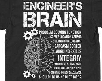 38e6f9c8bac Engineer s Brain T-shirt Engineer Vintage Shirt Gift Engineer Shirt Gift  For Father