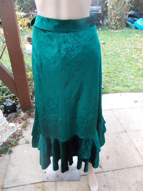 Lucie Linden Velvet Skirt Vintage Size 38