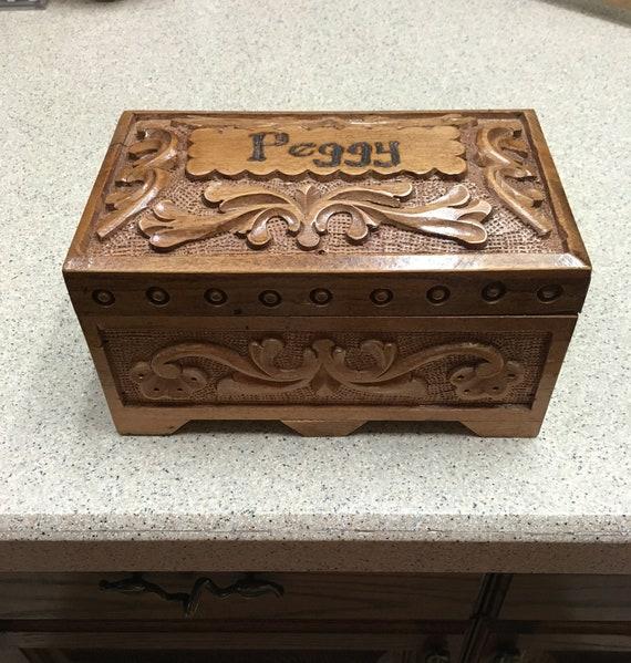 Turkish Carved Walnut Box
