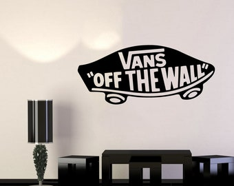 2x Vans Off The Wall Logo Vinyl Decal Sticker For Decoration Skateboarding Art Small