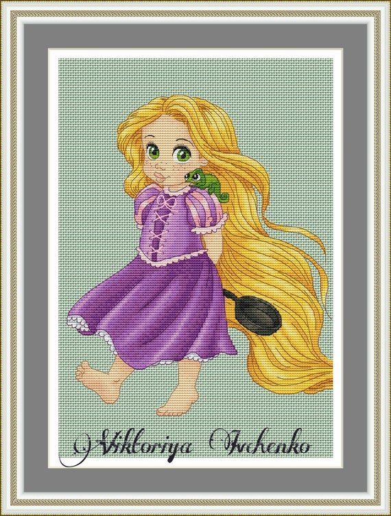 Crossstitch pattern Rapunzel crossstitch,xstitching,xstitch,embroidery,pattern,cross stitch,hobby,needlework,needlepoint,chart,pdf