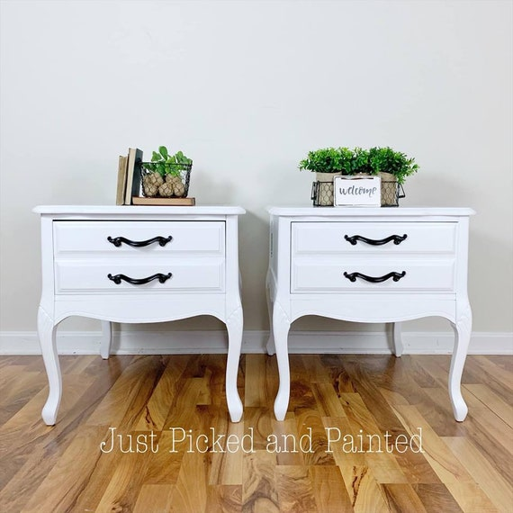 SOLD***Vintage farmhouse end tables/ farmhouse nightstands/modern side  tables/living room tables