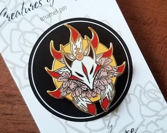 Kitsune Hard Enamel Pin |Japanese Collection|