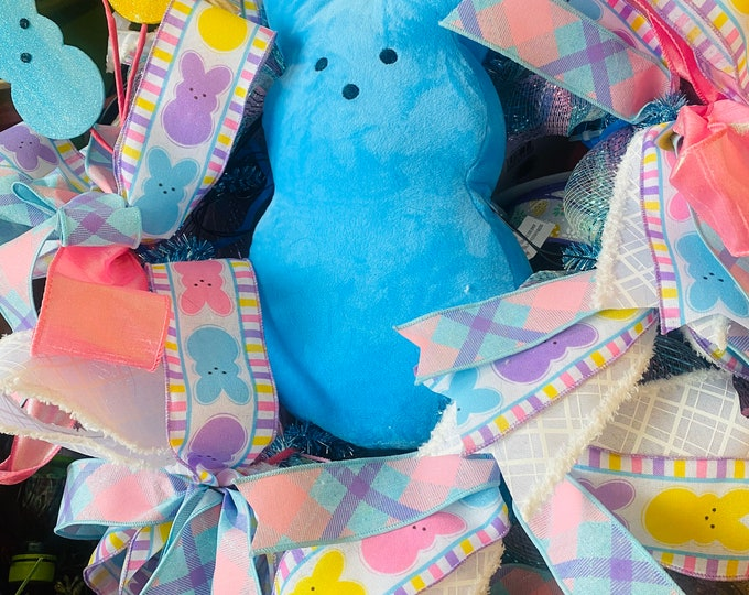 Sugar Bunny, Easter Bunny, Blue Bunny, Easter Rabbit, Front Door Decor, Wall Decor, Easter Decoration
