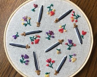 flowers + swords