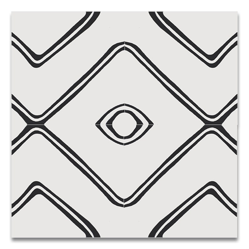 Moroccan Handmade Cement Tile. 8inch x 8 inch Floor & Wall image 9
