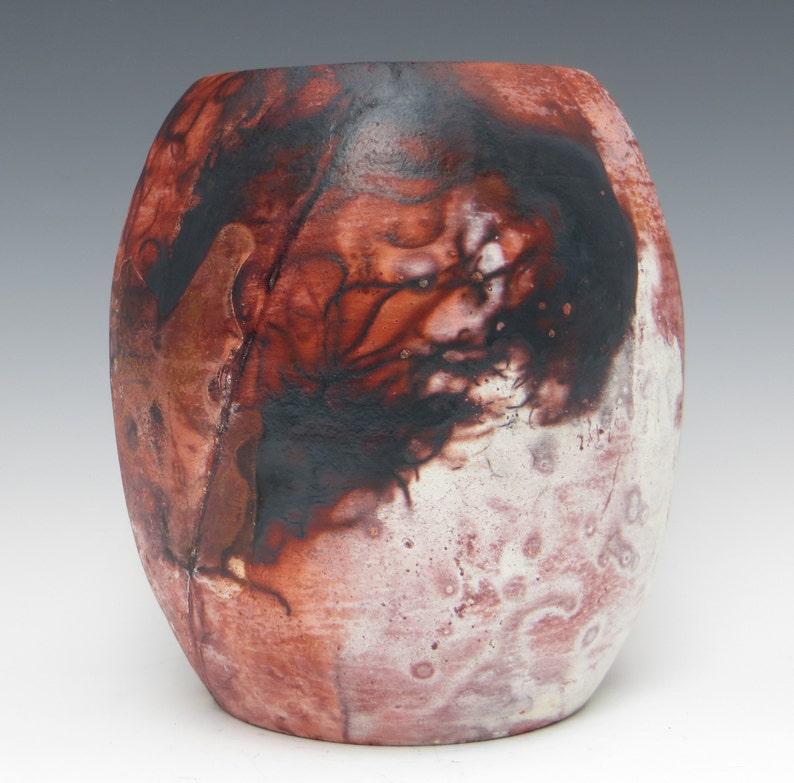 Raku Saggar Stoneware Jar