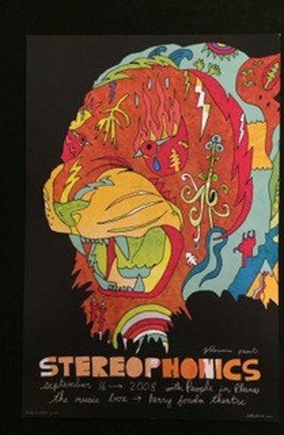 Dirty Pretty Things 1st Run Original Concert Poster from the Henry Fonda Theatre Hollywood CA