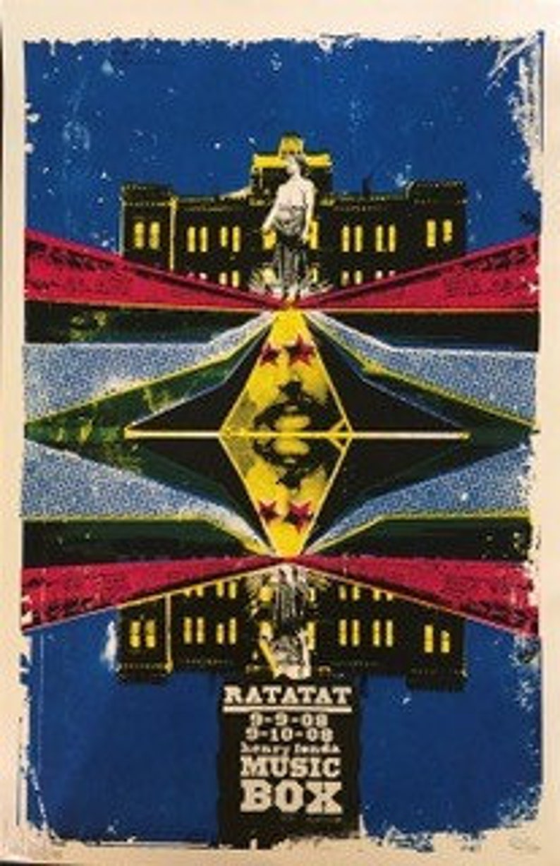 Ratatat Signed First Run Original Limited Edition Concert Poster