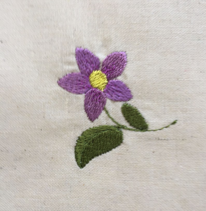Violet machine embroidery designs set of 7 all manually digitised