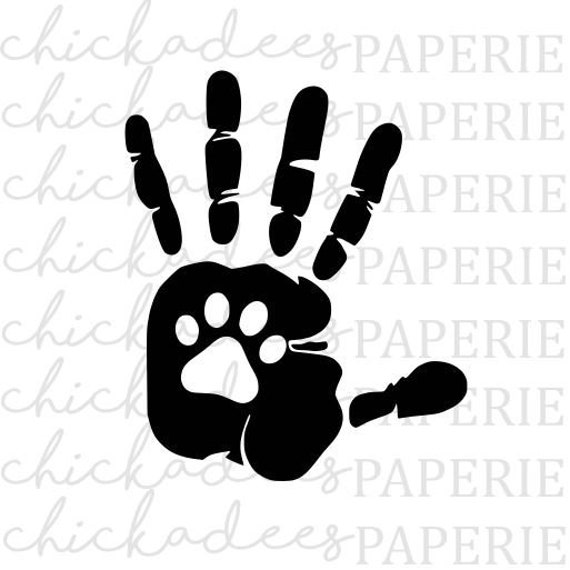 Download SVG File For Cricut/Silhouette Paw Print svg Dog/Cat Paw ...