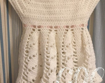 Hand crocheted infant or toddler dress