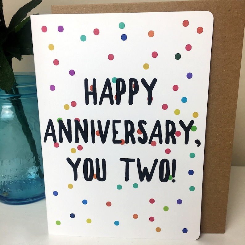 Handmade Anniversary Card Hand Lettered Card Card For Etsy