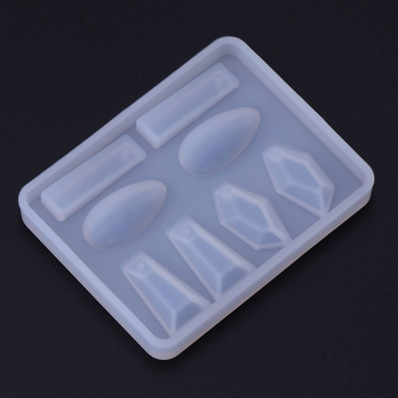 Jewellry Charm Mold MFER94 Silicon Mold Epoxy Resin Molds for Jewelry Resin Jewelry Making Cabochon Mold Geometric Gem Silicone Molds