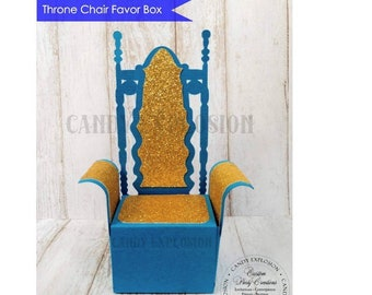 Royal Throne Chair Favor Boxes