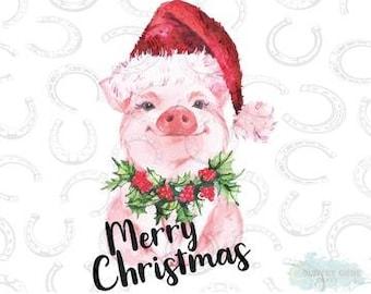 Christmas Pig.Christmas Pig Etsy