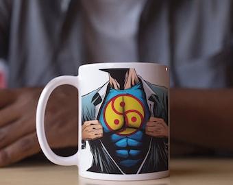 BDSM Dominant DDLG Mug gift for Daddy Top Dom Domme Sadist cgl Superman (Mug)