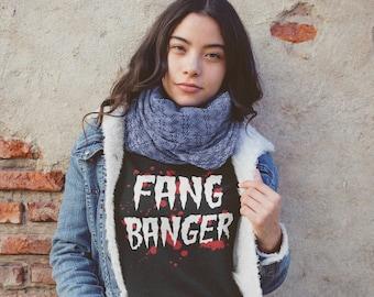 Vampire Sweatshirt, Halloween, Fang Banger Sweatshirt, BDSM, Primal Predator, Primal Prey, Goth Aesthetic, Alternative, Kink (Sweatshirt)