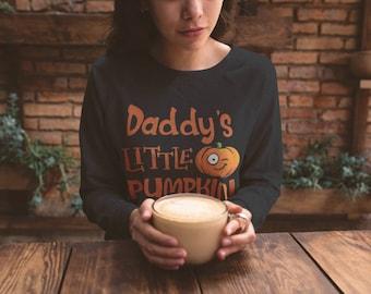 Daddy's Little Pumpkin, DDLG, Halloween Sweatshirt, Submissive, Casual BDSM Clothes, Slave, Little, Gothic Aesthetic (Sweatshirt)