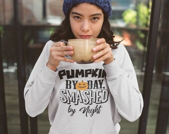 Pumpkin By Day, Smashed By Night Kinky Suggestive Halloween Sweatshirt for Her BDSM DDLG Submissive FemDom Master Slave (Sweatshirt)