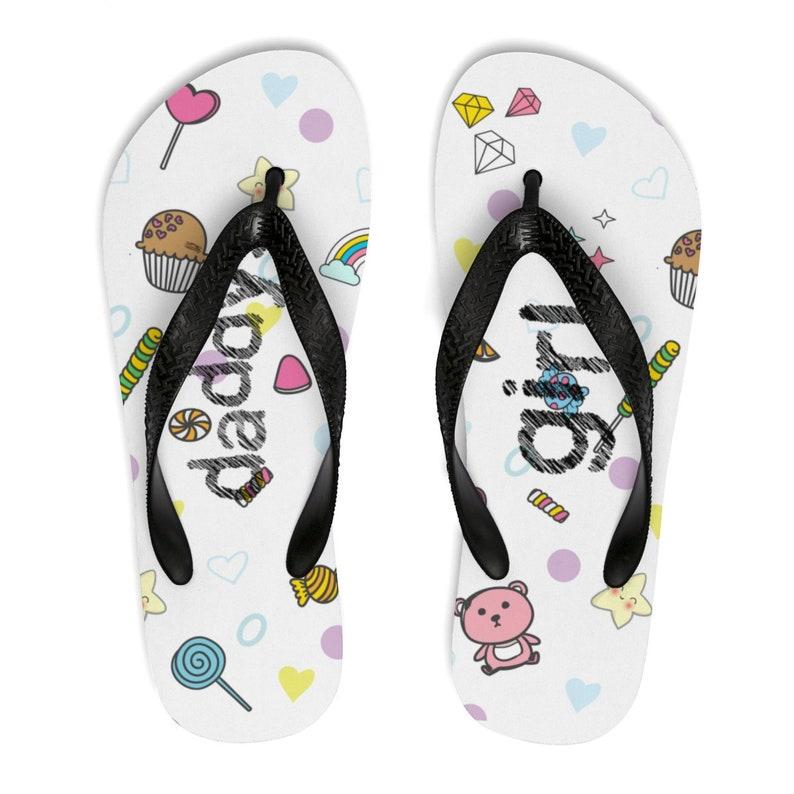 030dca49ac3c8 BDSM Daddy's Girl Flip Flops Gift for Little submissive little Flip Flops  DDLG cgl Cute Pink White (Unisex FlipFlops)