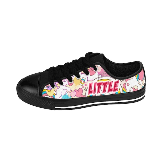 9ebdae61a160f Little Sneakers DDLG BDSM Shoes Gift for Little MDLG cgl Outfit Cute Pink  Unicorn Cats Hearts Rainbows (Womens Low Top Sneakers)
