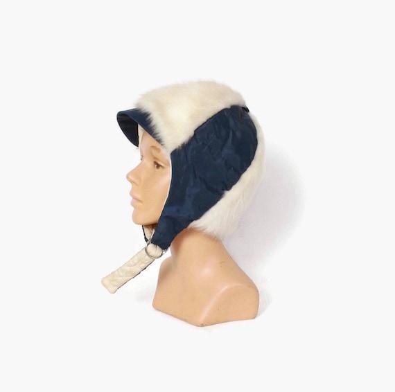 Adorable 60s Faux Fur Ski Hat - image 1