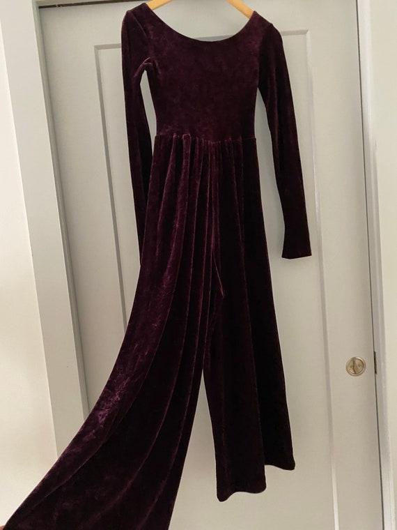 Gorgeous vintage Betsey Johnson Velvet Jumpsuit