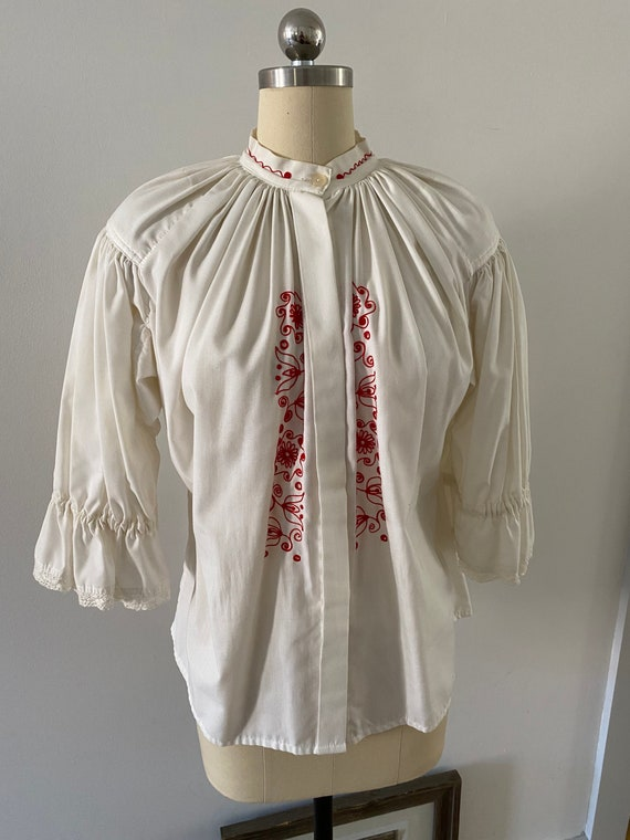 Gorgeous Embroidered Poet Blouse