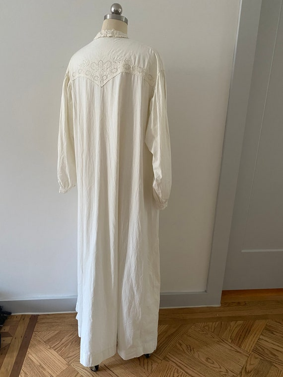 Gorgeous Antique Cotton Dressing Gown - image 2