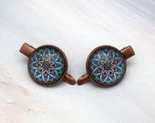 Bohemian flower small hair clip set, Bohemian hair accessories