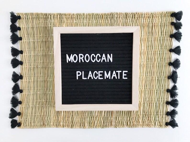 Moroccan Straw doily,Napperon en paille,Placemats set Placemats.Elegant doily.