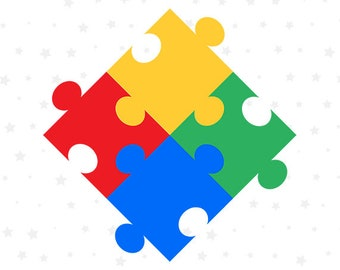 Autism Puzzle SVG File, Autism SVG Printable Files, Autism Support Cutting Files, Autism Awareness Images, Vector Decal, Layered DXF, MY004