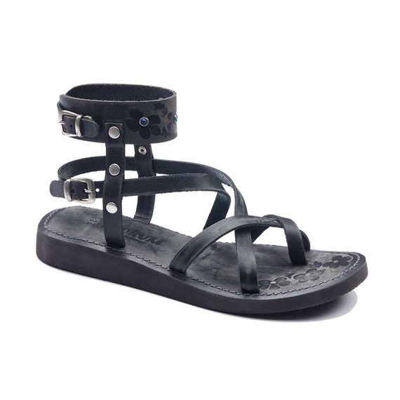 Leather Sandals Sandals Handmade Womens sandals Sandals Ankle Loop Toe Strappy Wrap Womens dqEwYa