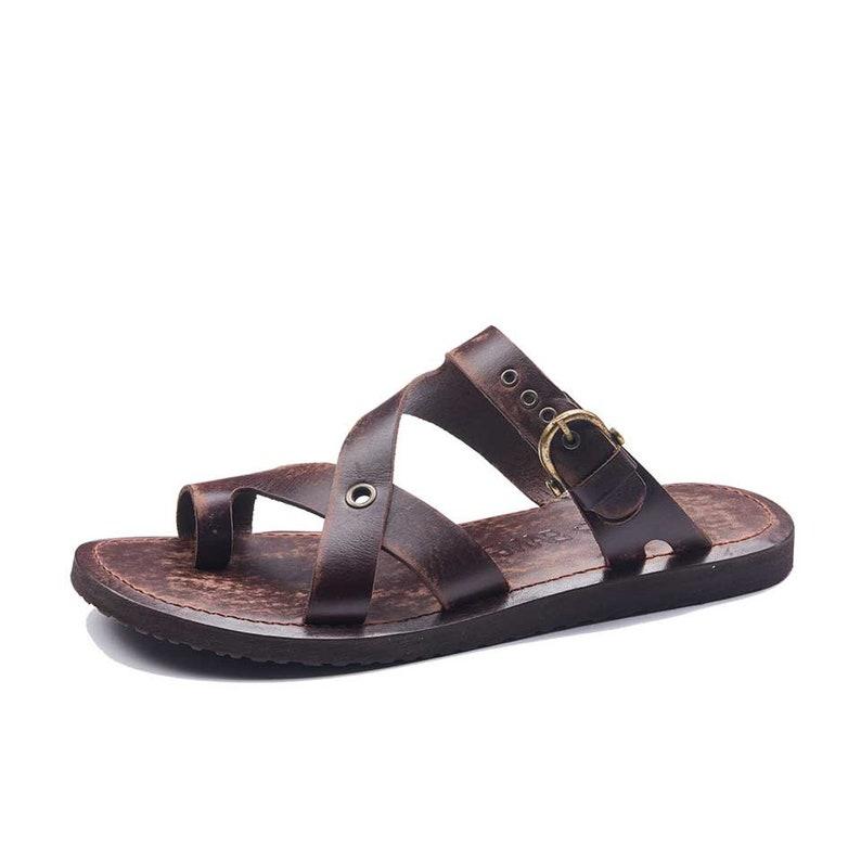 3d752edba Handmade Leather Bodrum Sandals Men High Quality Sandals