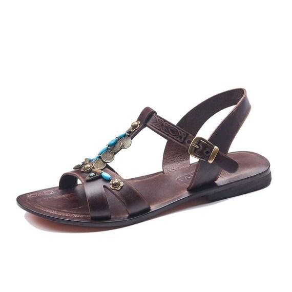 Womens Handmade Sandals Sandals sandals Womens Summer Sandals Sandals Bodrum Leather Brown Leather Comfortable Sandals Sandals Cheap qWgEA