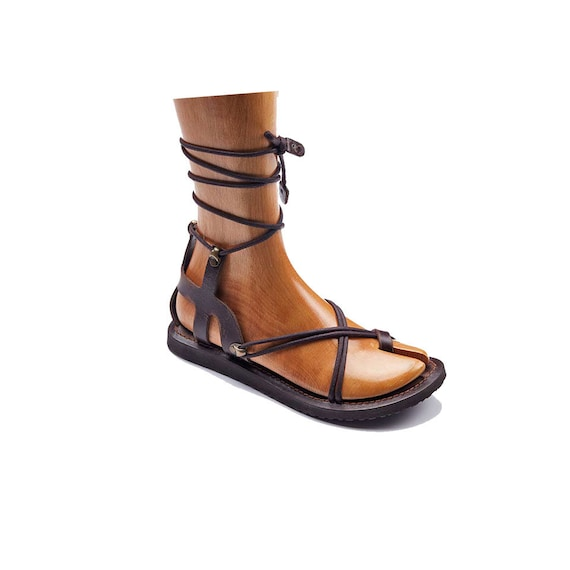 Womens Strappy Brown Leather Sandals Sandals Handmade vAxr4Fwvq