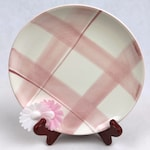 Cube pink white dessert plate breakfast plate plate ceramic plate Abano pink 4039 R quadri