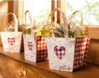 """Planter bag """"Karo"""" with handles FF105864"""