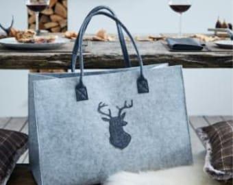 "Handbag ""deer motive"" felt FF336291"