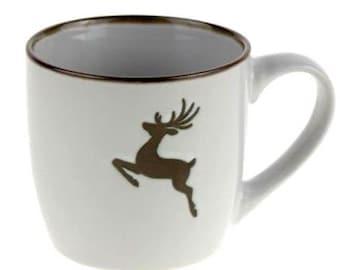 "Mug ""Alpine Happiness"" white"