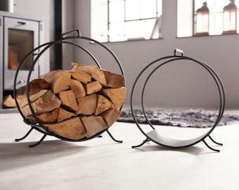 "Set of 2 firewood racks ""modern"" 221257"