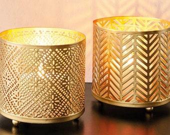"""Lantern """"Gold"""" Set of 2"""