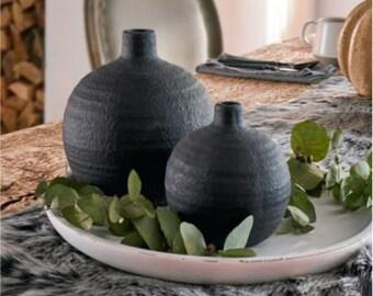 """2-piece vase set """"Cement"""" FF770167"""