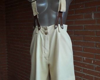 Vintage 1989 Bermuda Shorts with suspenders
