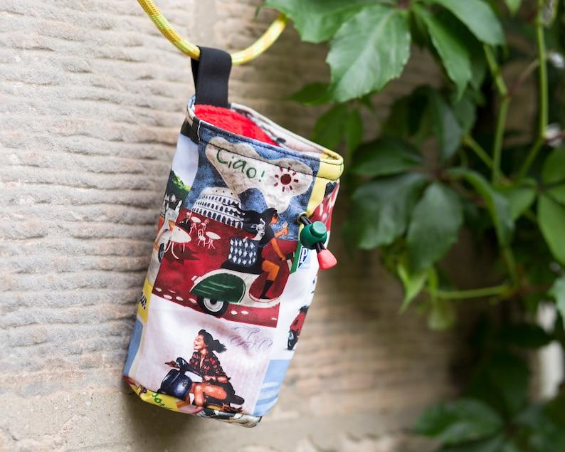 Vintage Vespa chalk bag for climbing and bouldering
