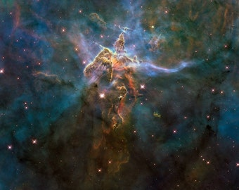 Wide View of Mystic Mountain NASA, ESA and the Hubble Heritage Team Gallery Wrapped Canvas Wall Art Print (D50)