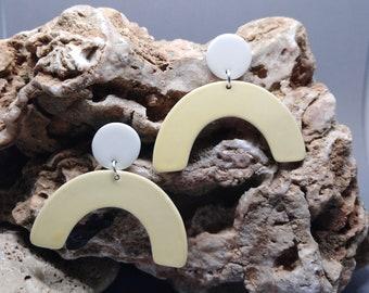 Porcelain earring minimal design
