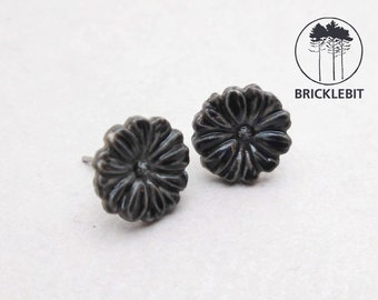 Handmade natural floral porcelain earring